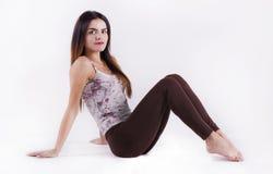 Entrenamiento flexible de la mujer foto de archivo libre de regalías