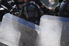 Entrenamiento para el disturbio civil Foto de archivo