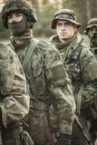 Entrenamiento profesional para los soldados del ejército foto de archivo libre de regalías
