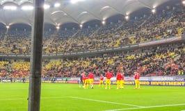 Entrenamiento rumano de los jugadores Imagen de archivo