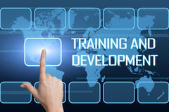 Entrenamiento y desarrollo stock de ilustración