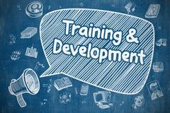 Entrenamiento y desarrollo - concepto del negocio stock de ilustración