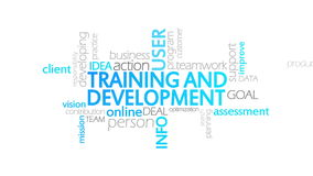 Entrenamiento y desarrollo, tipografía animada