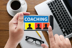 ENTRENAR al líder Manager Tutor del instructor de la guía Imagen de archivo libre de regalías