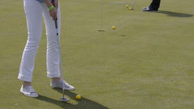 Entrenar golf almacen de metraje de vídeo