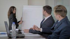 Entrenar la carta de Draws On Flipchart del entrenador para el desarrollo del equipo de lanzamiento del negocio metrajes