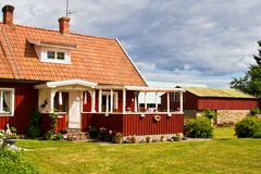 Entrence. Houses and environment in Sweden Stock Images