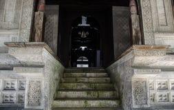 Entrence aan heilige moskee Royalty-vrije Stock Afbeeldingen