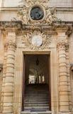 Entrence d'Auberge de Castille Valletta, Malte photographie stock libre de droits