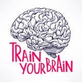 Entrene a su cerebro stock de ilustración