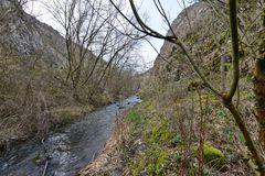 Entrening the Tureni gorge. Royalty Free Stock Photography