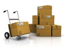 Entrepôt de courrier illustration stock