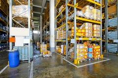 Entrepôt de matériau inflammable Photo stock