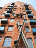 Entrepôt de ville à Hambourg images libres de droits