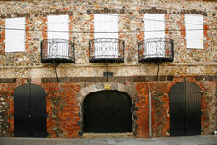 Entrepôt de XVIIIème siècle à Charlotte Amalie, USA Îles Vierges Photos stock