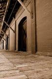 Entrepôt et dock (sépia) Images libres de droits
