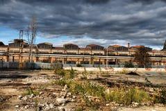 Entrepôt industriel abandonné Images stock