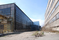 Entrepôt industriel abandonné Photos stock