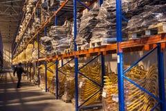 Entrepôts du réseau des hypermarchés METRICA Photos stock