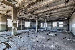 Entrepôt détruit Images libres de droits