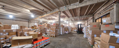Entrepôt d'épicerie dans une ancienne usine Images stock