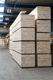 Entrepôt de bois de charpente Images libres de droits