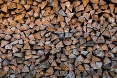 Entrepôt de bois de chauffage Images stock