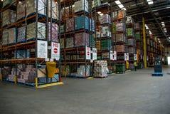 Entrepôt de distribution de produits alimentaires Photographie stock