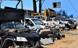 Entrepôt de ferraille d'automobile Images libres de droits