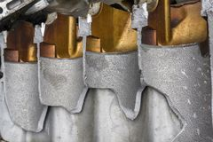 Entrepôt de ferraille de moteur Photo libre de droits