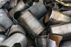 Entrepôt de ferraille de moteur Photographie stock libre de droits