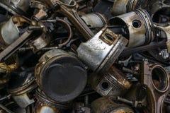 Entrepôt de ferraille de moteur Images libres de droits