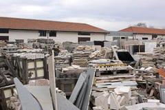 Entrepôt de marbre Photographie stock libre de droits