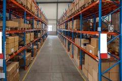 Entrepôt de pièces d'auto de Chongqing Minsheng Logistics Baotou Branch Photographie stock libre de droits