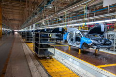 Entrepôt de pièces d'auto de Chongqing Minsheng Logistics Baotou Branch Photographie stock