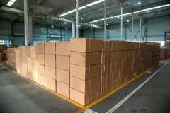 Entrepôt de pièces d'auto de Chongqing Minsheng Logistics Baotou Branch Images libres de droits