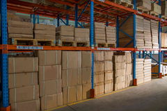 Entrepôt de pièces d'auto de Chongqing Minsheng Logistics Baotou Branch Image libre de droits
