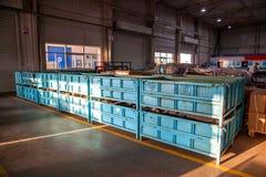 Entrepôt de pièces d'auto de Chongqing Minsheng Logistics Baotou Branch Photos libres de droits