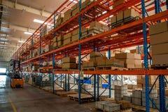 Entrepôt de pièces d'auto de Chongqing Minsheng Logistics Beijing Branch Photo libre de droits