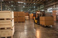 Entrepôt de pièces d'auto de Chongqing Minsheng Logistics Chongqing Branch Photos stock