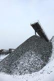 Entrepôt de pierre et de charbon, pierres de carrière Photos stock