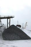 Entrepôt de pierre et de charbon, pierres de carrière Photos libres de droits