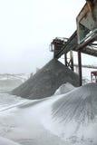 Entrepôt de pierre et de charbon, pierres de carrière Photo libre de droits