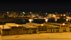 Entrepôt de port de Le Pirée vieil Photos libres de droits