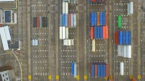 Entrepôt industriel de fret de port maritime de récipient de cargaison de logistique clips vidéos