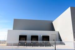 Entrepôt industriel extérieur photo stock