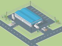 Entrepôt isométrique Images libres de droits