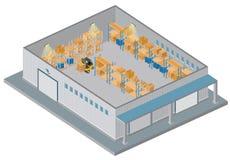Entrepôt isométrique illustration de vecteur