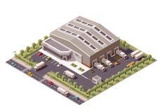 Entrepôt isométrique de vecteur