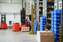 Entrepôt occupé Photo stock
